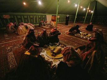 tent with men