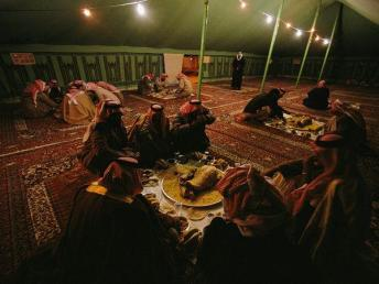 tent with men